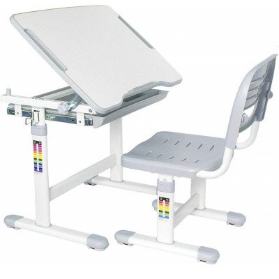 ergonomic kids chair and tilted desk