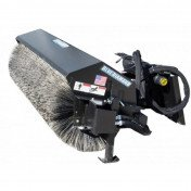 Broom with Bucket Attachment for Skidsteer
