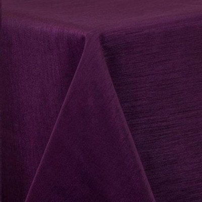 "Round Tablecloth 84"" Majestic Eggplant picture 1"
