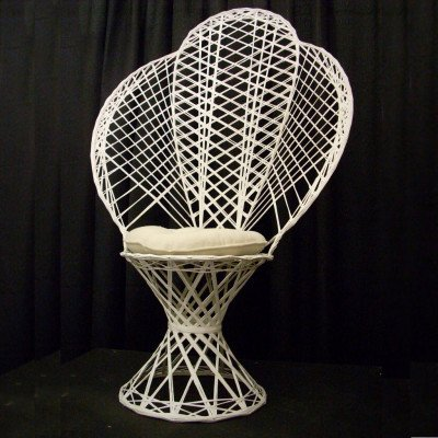 Chair, Wicker, White picture 1