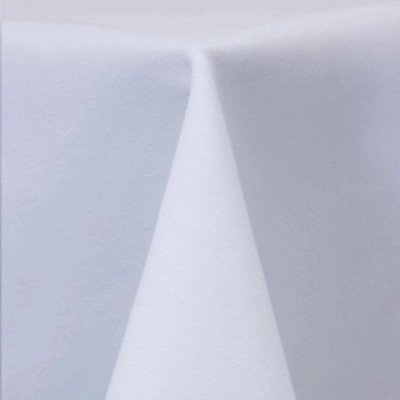 """Round Tablecloth 120"""" Cott'N-Eze White picture 1"""