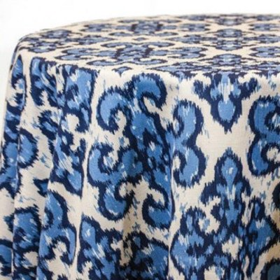 Tablecloth 90X156 Panama Louise French Blue picture 1