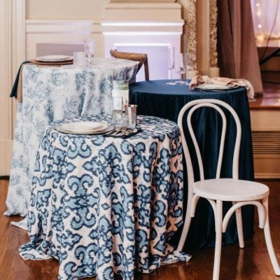 Tablecloth 90X156 Panama Louise French Blue picture 3
