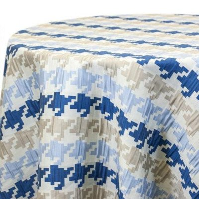 """Round Tablecloth 120"""" Glacial Chunks Blue picture 1"""