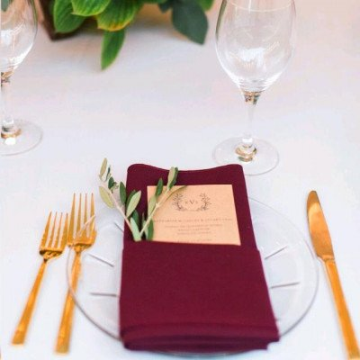 Tablecloth 90X156 Poly Burgundy picture 3