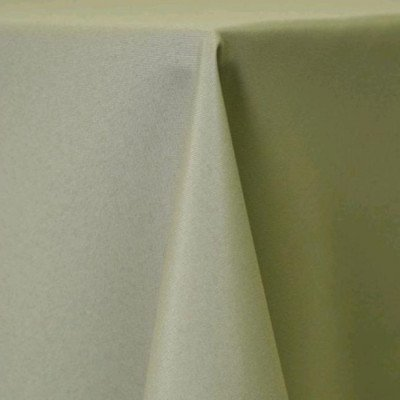 "Round Tablecloth 84"" Poly Light Olive picture 1"