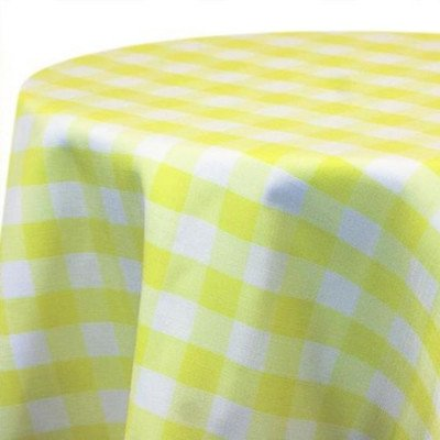 Tablecloth 90X156 Poly Check Maize picture 1
