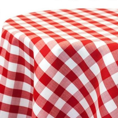 Tablecloth 90X156 Poly Check Red picture 1