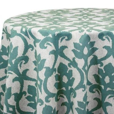 """Round Tablecloth 120"""" Ikat Raw Silk picture 1"""