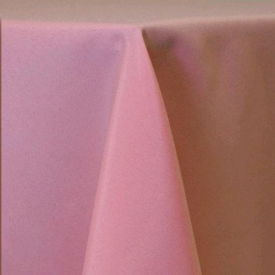 "Round Tablecloth 84"" Poly Pink picture 1"