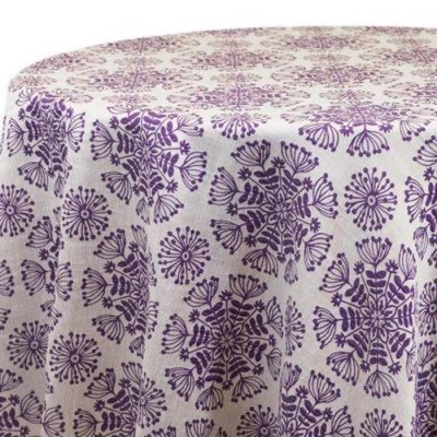 "Round Tablecloth 120"" Just Dandy Purple picture 1"