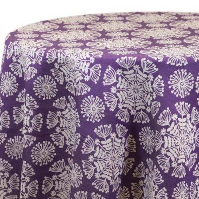 "Round Tablecloth 120"" Just Dandy Purple picture 2"