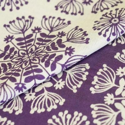 "Round Tablecloth 120"" Just Dandy Purple picture 3"