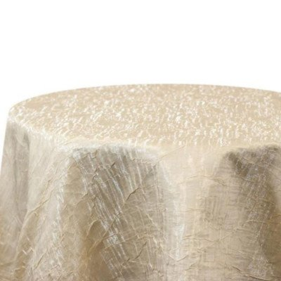 """Round Tablecloth 90"""" Iridescent Crush Ivory picture 1"""