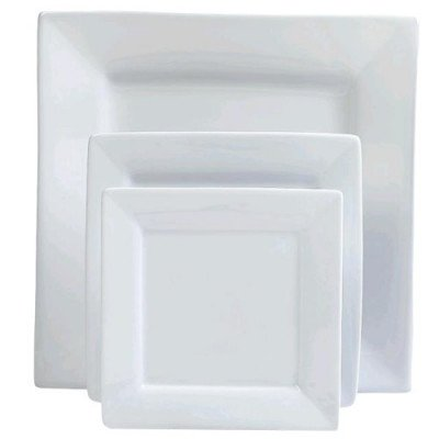"""Plate, 6 1-4"""" Bread and Butter White Square picture 1"""