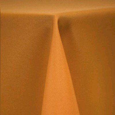 """Round Tablecloth 90"""" Poly Goldenrod picture 1"""
