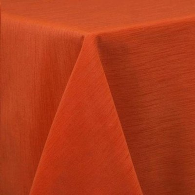 "Round Tablecloth 120"" Majestic Orange picture 1"