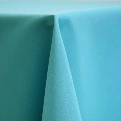 "Round Tablecloth 90"" Poly Turquoise picture 1"