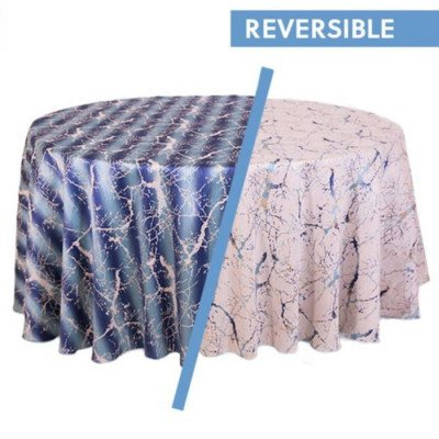 "Round Tablecloth 120"" Marble Blue picture 2"