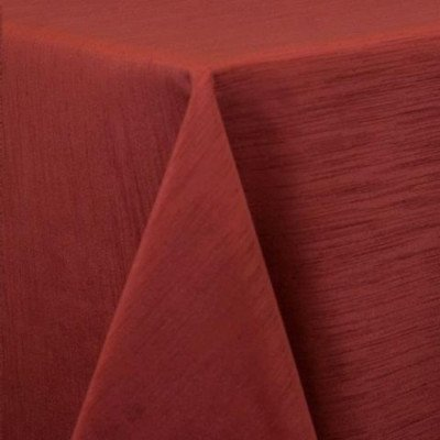 "Round Tablecloth 96"" Majestic Burnt Orange picture 1"