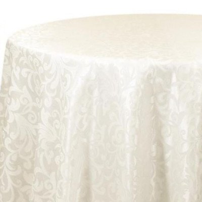 Tablecloth 90X156 Somerset Damask Ivory picture 1