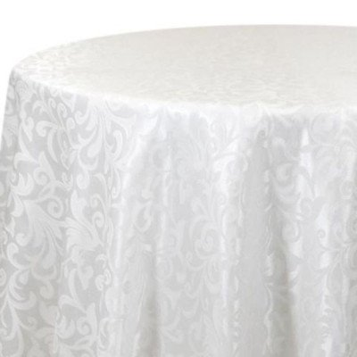 Tablecloth 90X156 Somerset Damask White picture 1