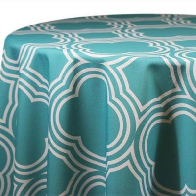 """Round Tablecloth 120"""" Pacific Royal Club picture 1"""