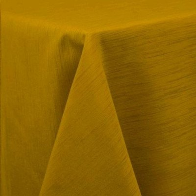 "Round Tablecloth 96"" Majestic Mustard picture 1"
