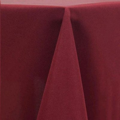 """Round Tablecloth 120"""" Poly Burgundy picture 1"""