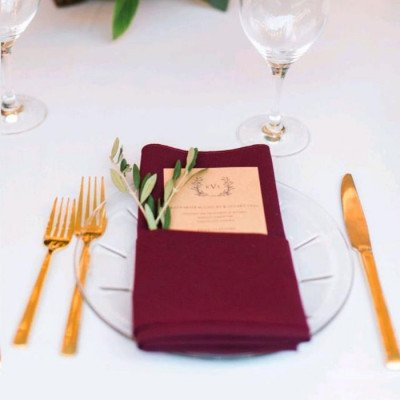 """Round Tablecloth 120"""" Poly Burgundy picture 3"""