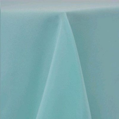 """Round Tablecloth 96"""" Poly Aqua picture 1"""