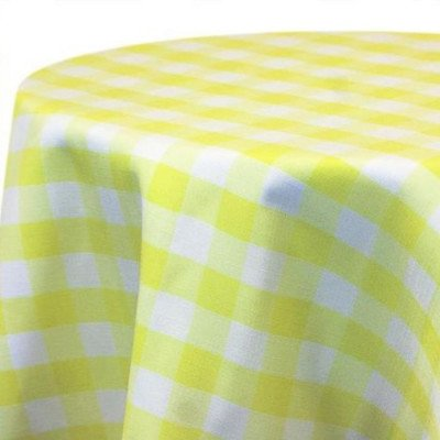 Overlay 72X72 Poly Check Maize picture 1