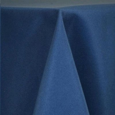 "Round Tablecloth 96"" Poly Dark Blue picture 1"