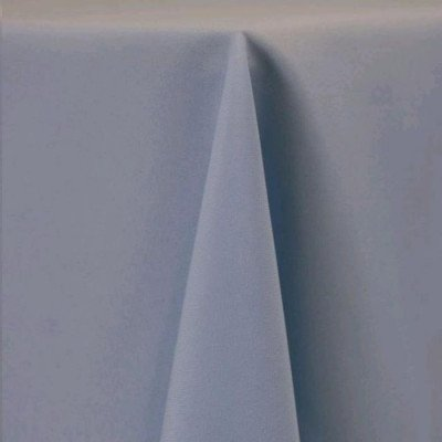 """Round Tablecloth 120"""" Poly Light Blue picture 1"""