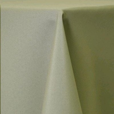 """Round Tablecloth 120"""" Poly Light Olive picture 1"""