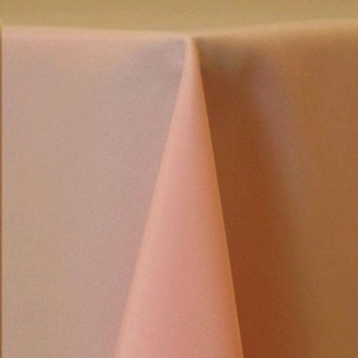 """Round Tablecloth 96"""" Poly Light Pink picture 1"""