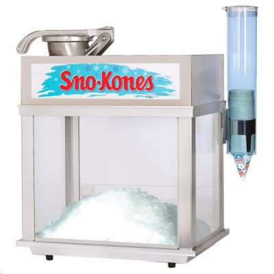 Deluxe Ice Shaver With Snow Cone Syrup, Straw picture 1