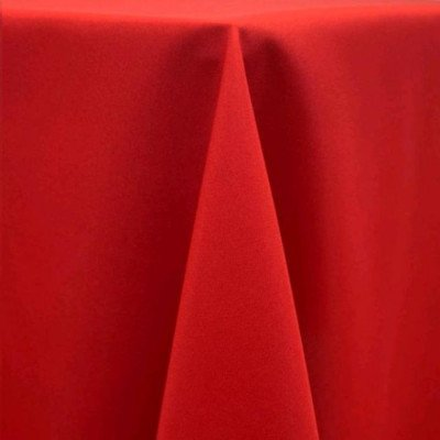"""Round Tablecloth 120"""" Poly Red picture 1"""