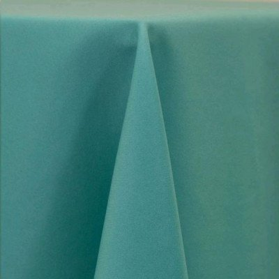"""Round Tablecloth 120"""" Poly Robins Egg Blue picture 1"""