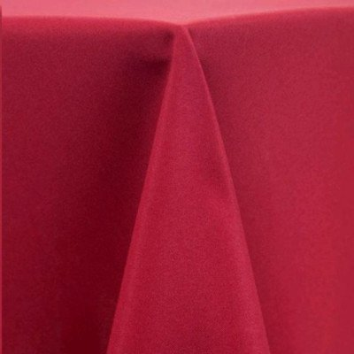 """Round Tablecloth 120"""" Poly Ruby picture 1"""