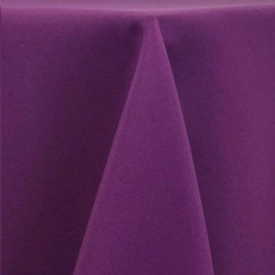 """Round Tablecloth 96"""" Poly Plum picture 1"""