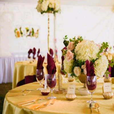 """Round Tablecloth 96"""" Poly Ruby picture 2"""