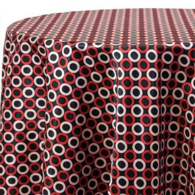 """Round Tablecloth 120"""" Ring Around Cherry picture 1"""