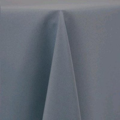 "Round Tablecloth 96"" Poly Slate picture 1"