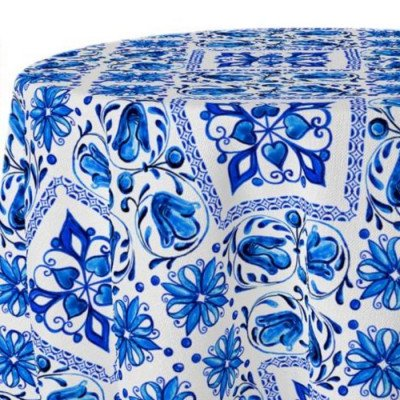 "Round Tablecloth 120"" Sicily picture 1"
