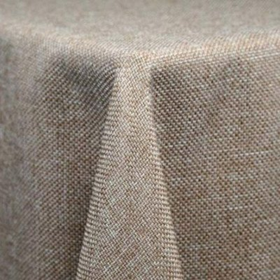 "Round Tablecloth 108"" Burlap picture 1"