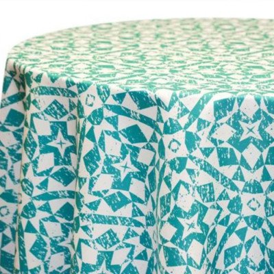 "Round Tablecloth 120"" Stargazer Ocean Blue picture 1"