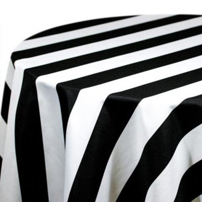 """Tablecloth 90""""X156"""" Cabana Black picture 1"""