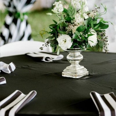 """Tablecloth 90""""X156"""" Cabana Black picture 3"""