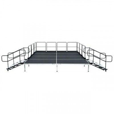 "Stage, 12'X12' Black Plywood Deck 30""-48"" Tall picture 1"